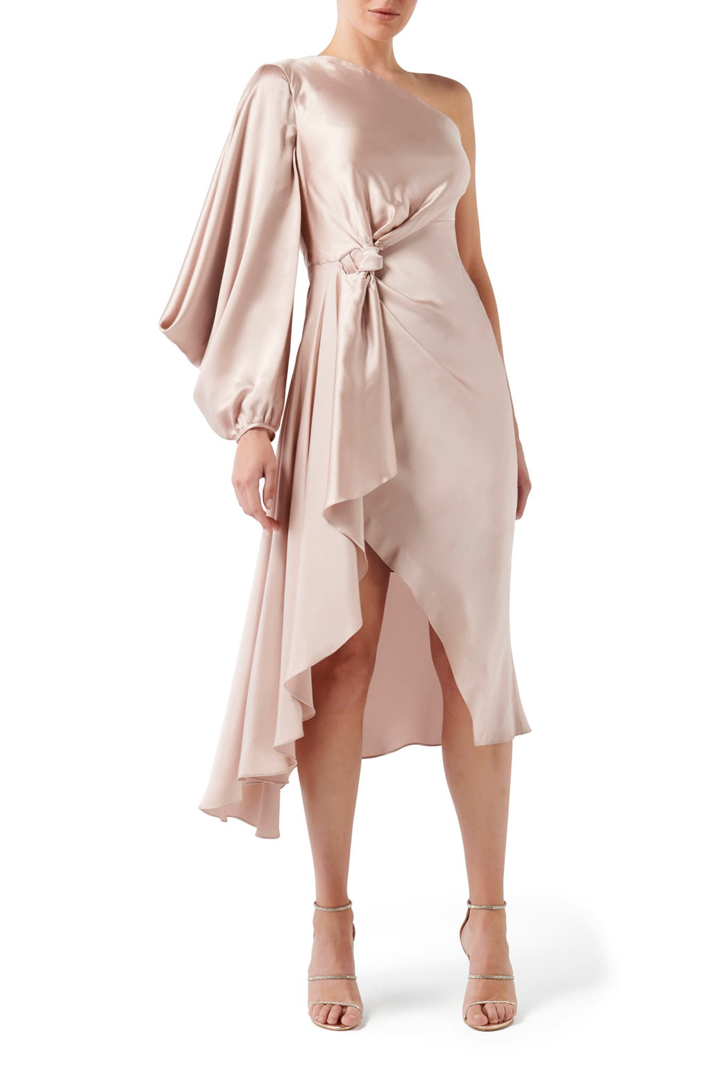 Attitude Scarf Knot Dress - Dusty Pink