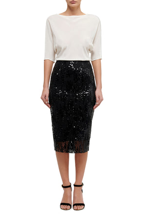 Fashion Rebellion Mesh Pencil Skirt - Black