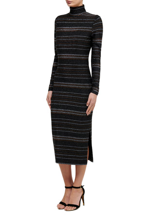 Wild at Heart Metallic Midi Dress