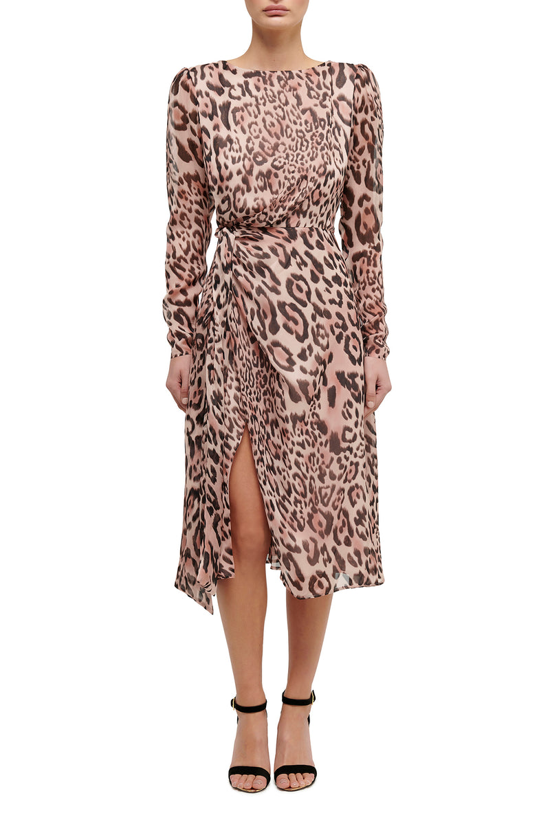 Wild at Heart Midi Dress - Animal