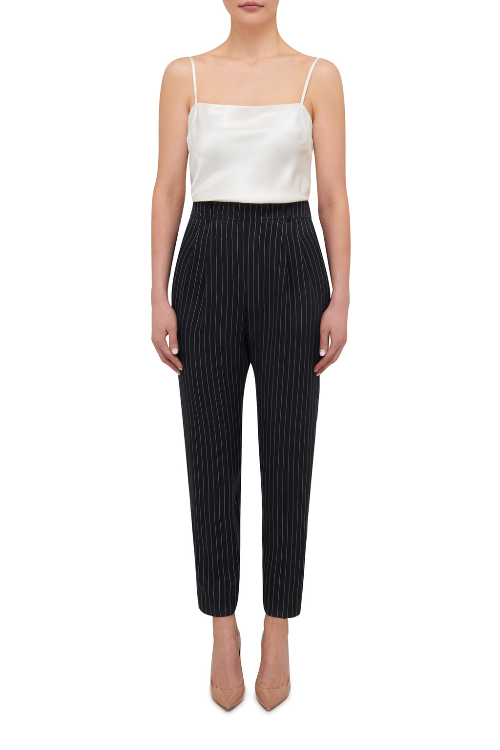 Suit Up Pinstripe Pant - Black