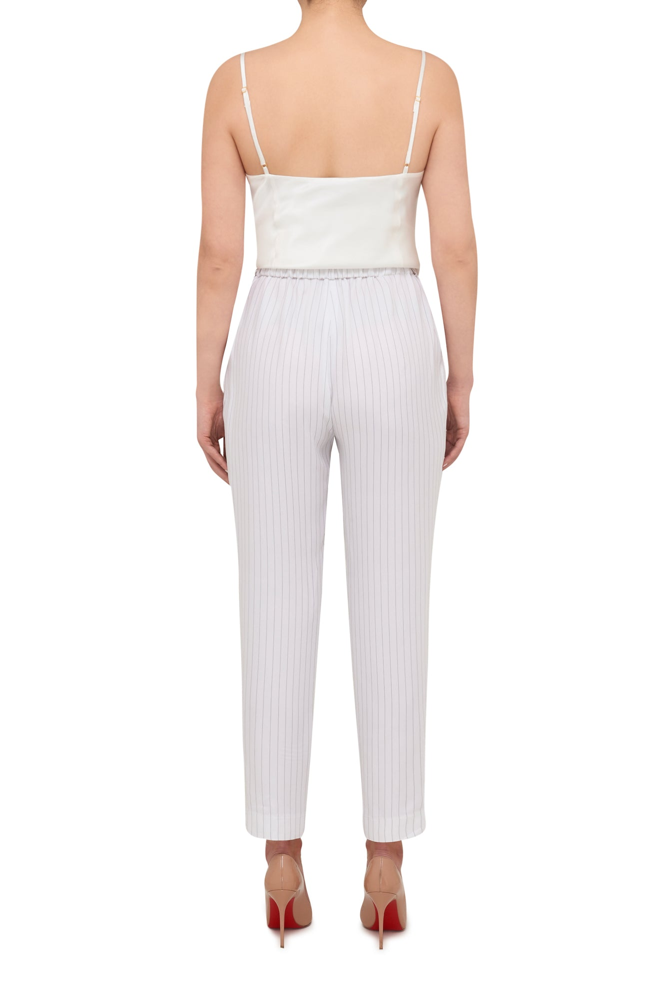 Suit Up Pinstripe Pant - White