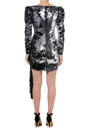 Fashion Rebellion Sequin Mini Dress - Silver