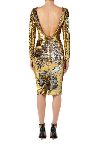 Wild at Heart Midi Dress - Gold