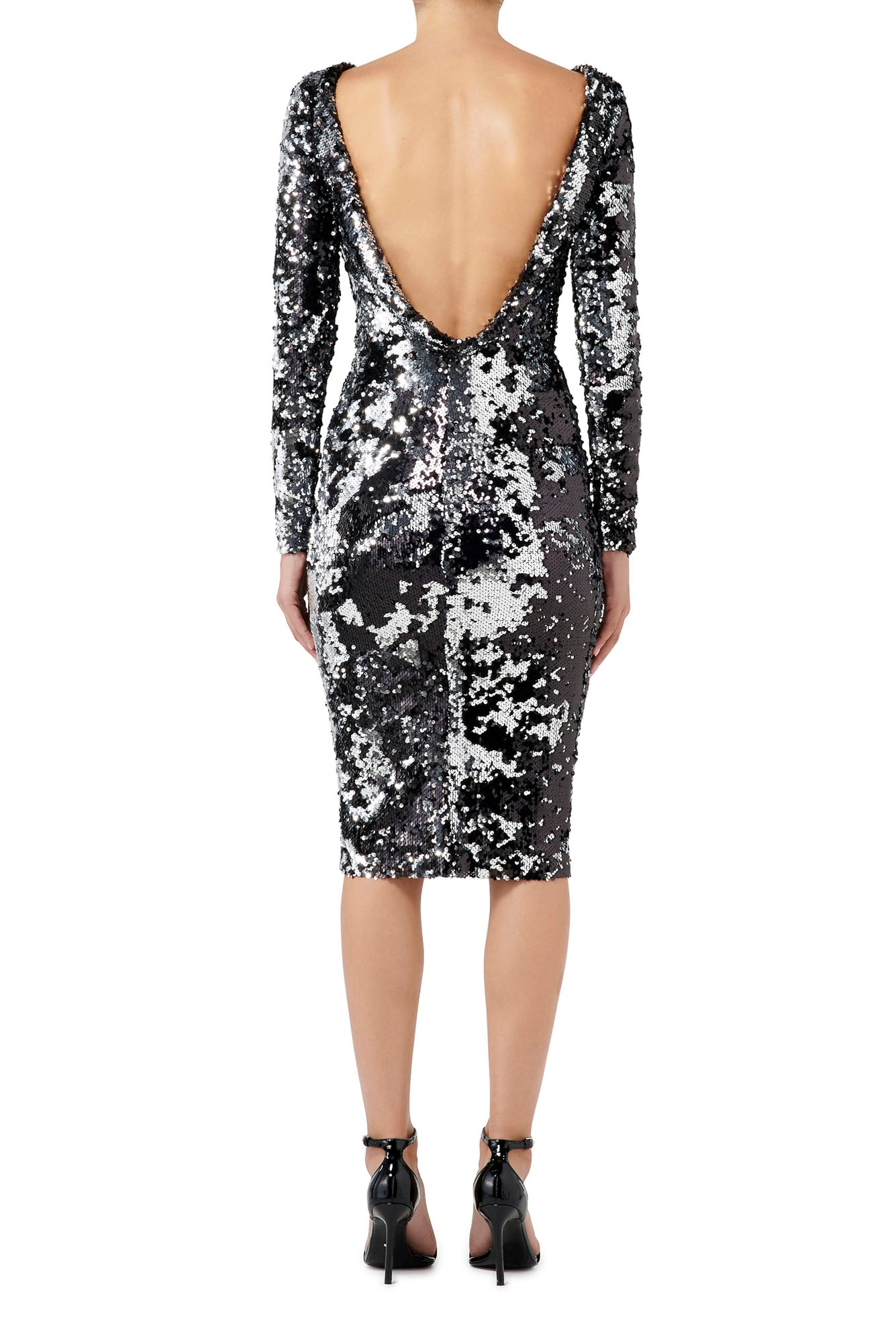 Fashion Rebellion Sequin Midi Dress - Silver