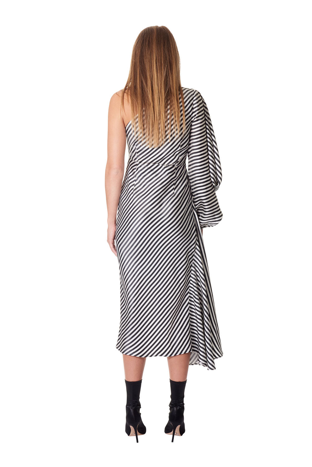 Attitude scarf knot dress - Stripe