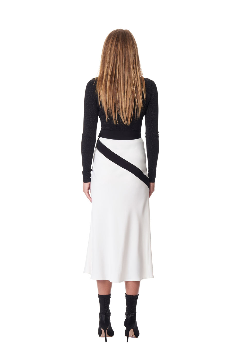 Mimi asymmetric skirt - Ivory/Black