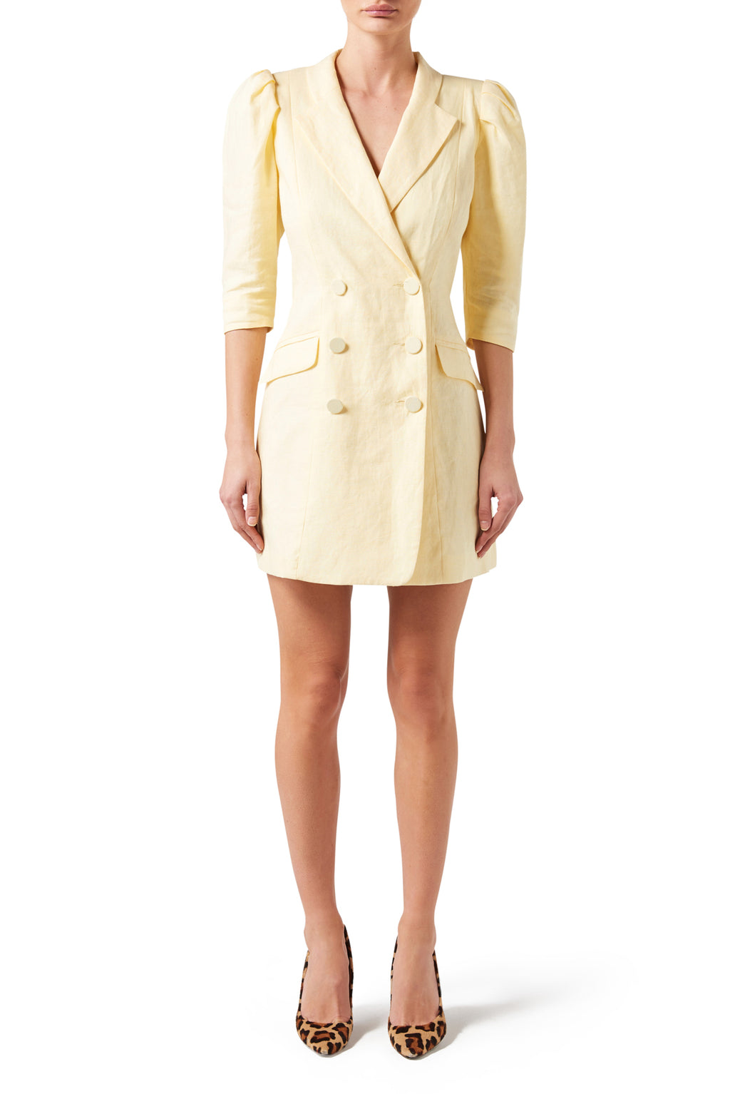 Harlem Jacket Dress - Lemon