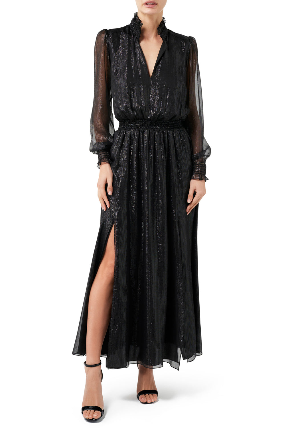 Kiki Split Front Dress - Sheer