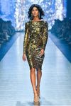 Fashion Rebellion Sequin Midi Dress - Gold