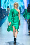 Attitude Scarf Knot Dress - Emerald