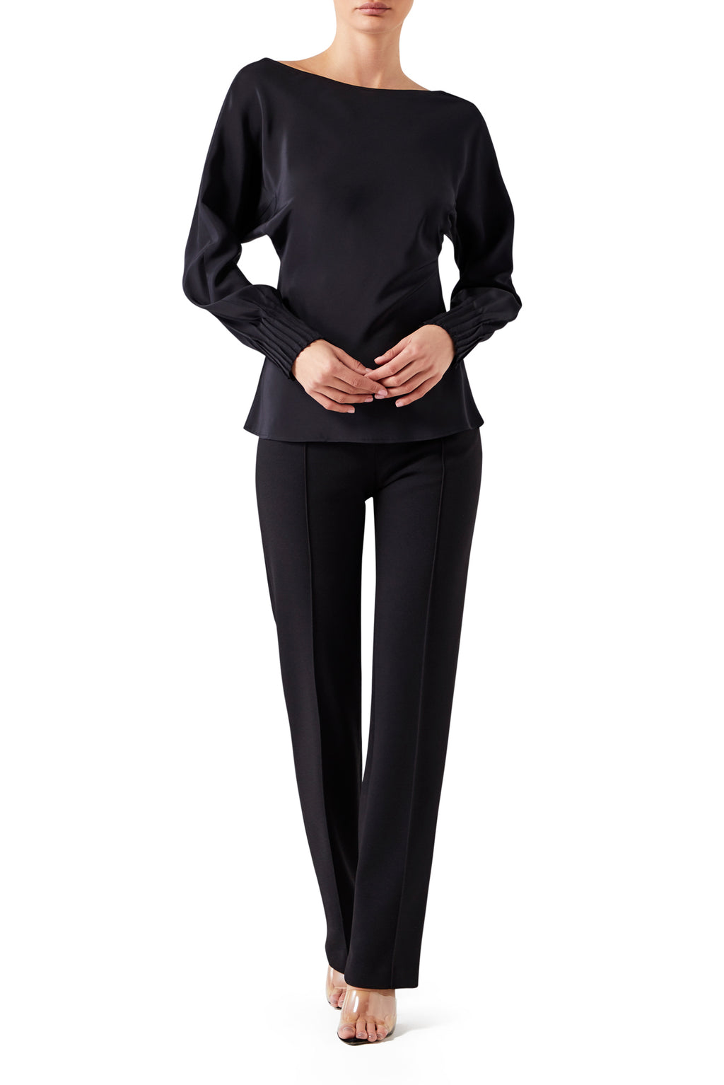 Athenian Long Sleeve Batwing - Black
