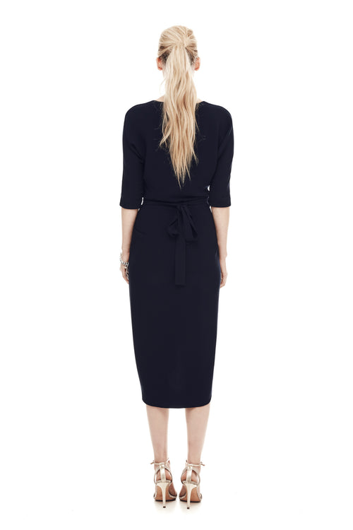 The Athenian Wrap Dress - Navy