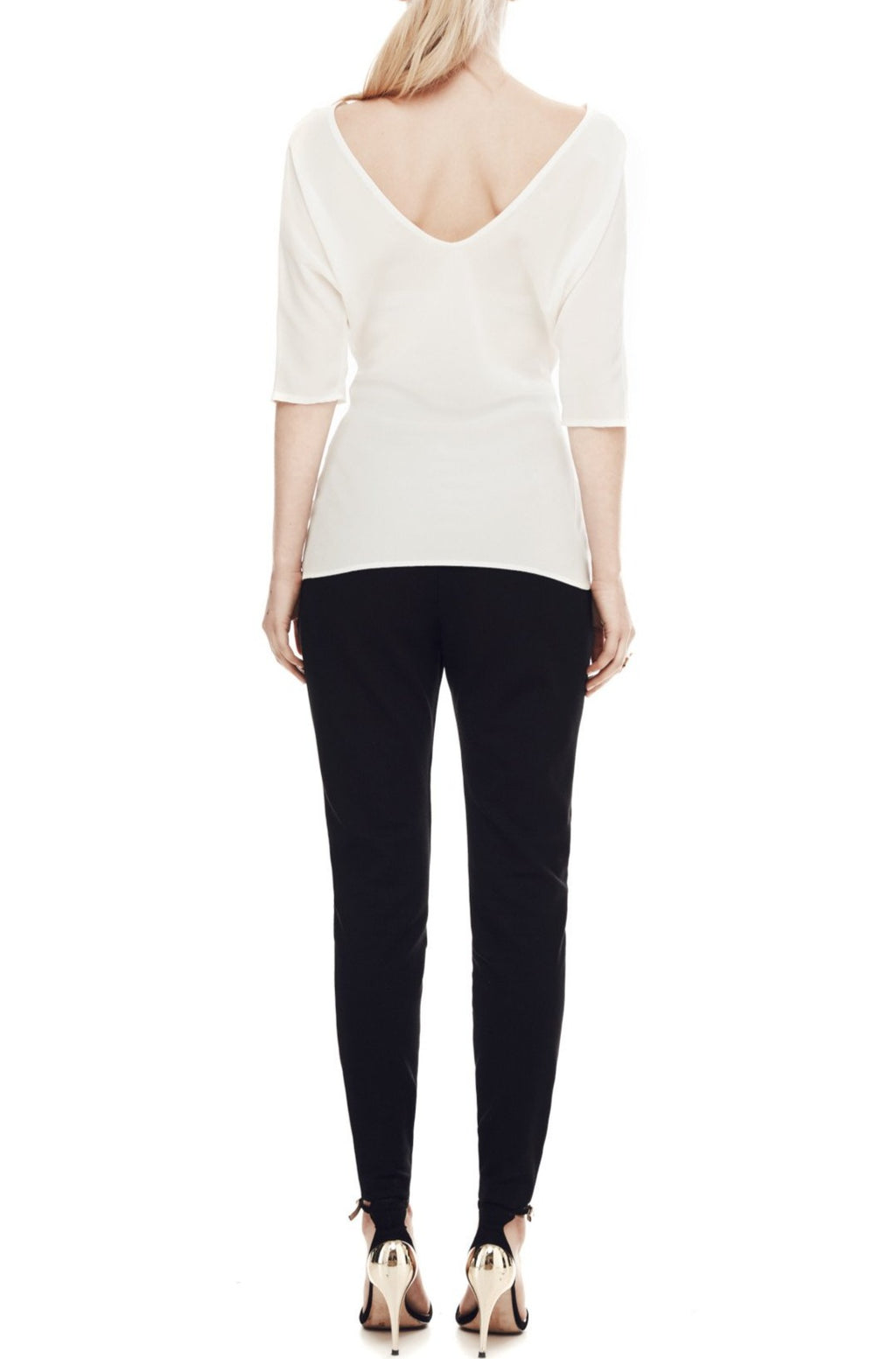 The Athenian Batwing Top - Ivory