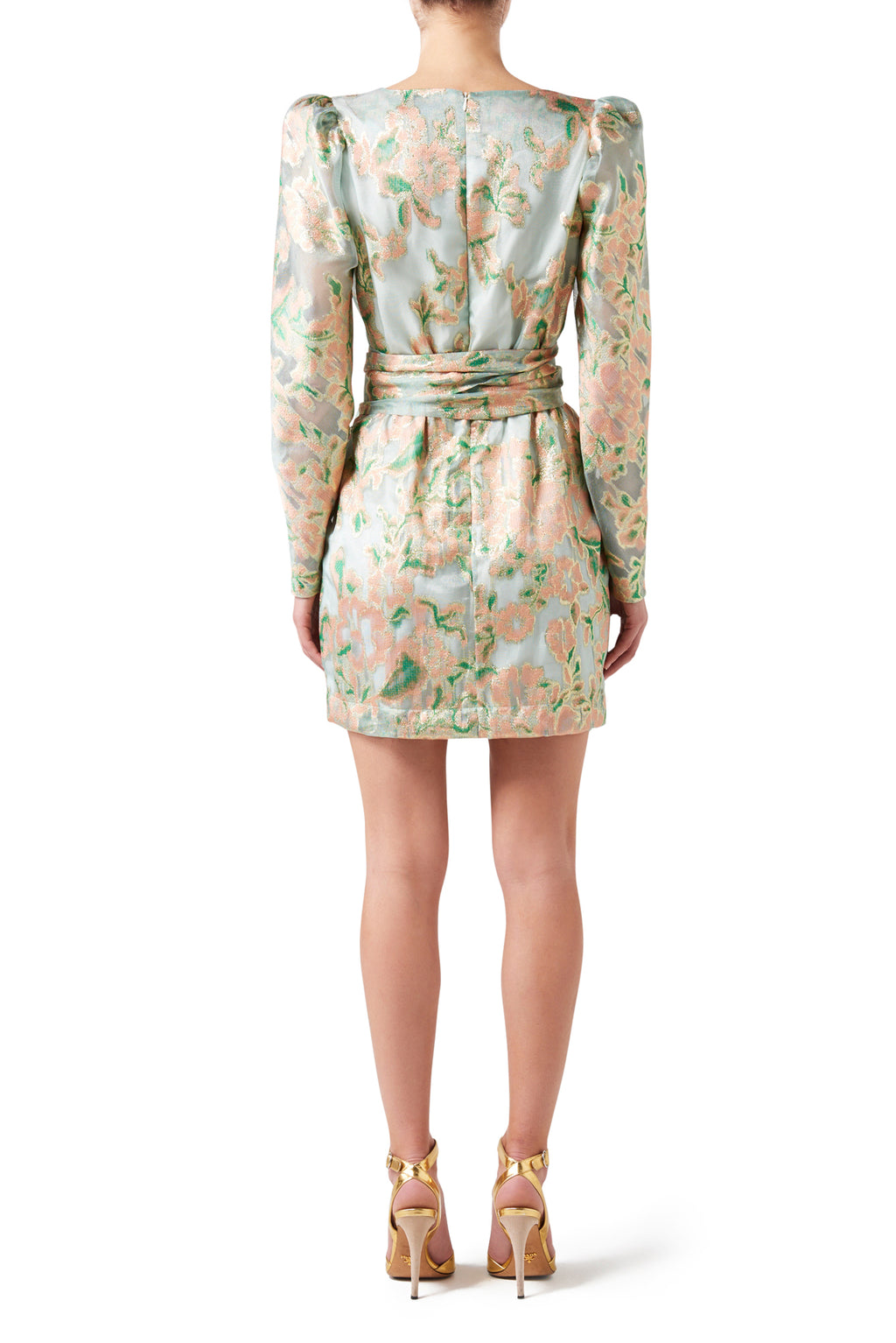Liliana Brocade Mini Dress