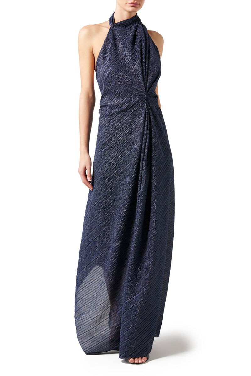 Aphrodite Halter Dress - Twilight