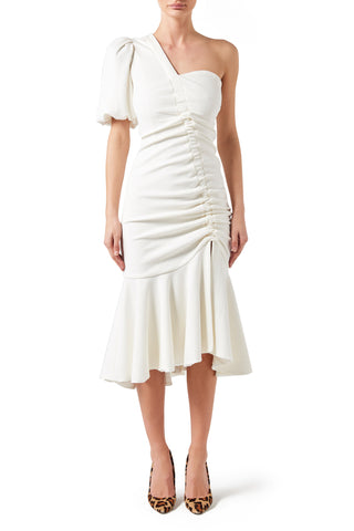 Havana Midi Dress - White