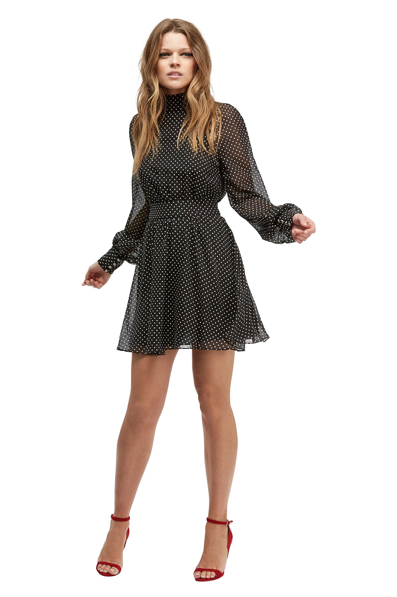 She Breaks Hearts Mini Dress Black/White