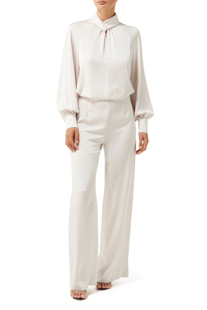 Dynasty Twist Knot Blouse - Ivory