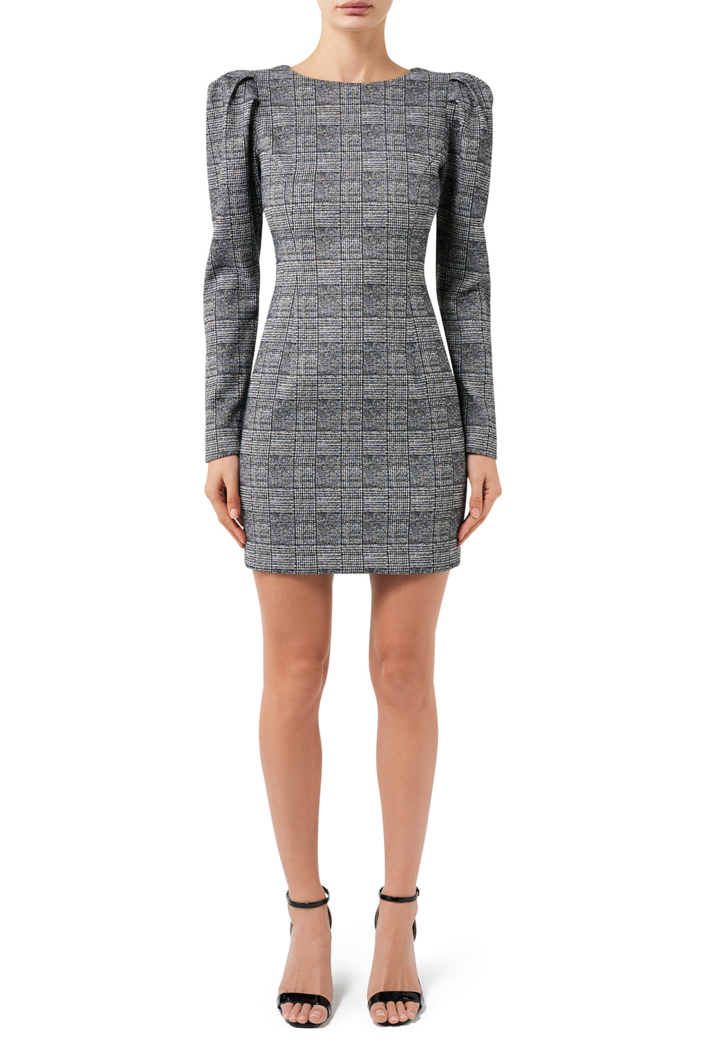 Fashion Rebellion Long Sleeve Check Mini Dress