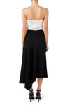 Diamandi Asymmetric Midi Skirt