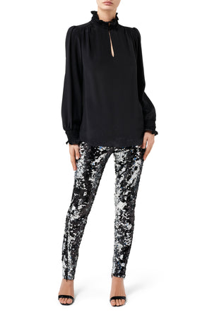 Fashion Rebellion Sequin Pant - Silver