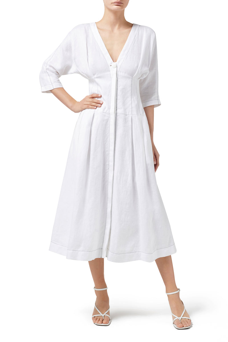 Pasadena Midi Dress - White