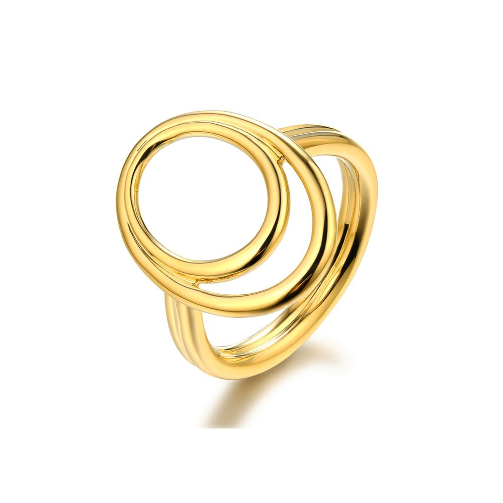 The Paris O Ring - Brass + 18K GOLD Plated