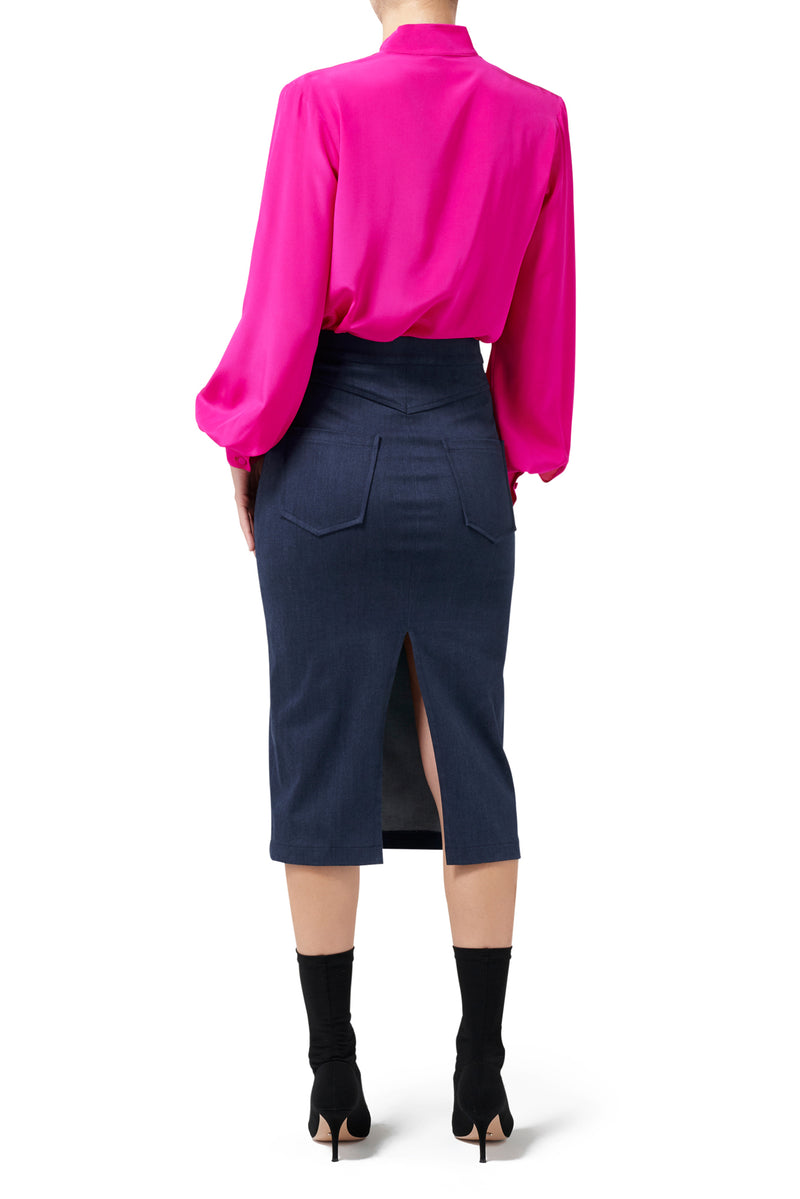 Rhea Blouse - Hot Pink