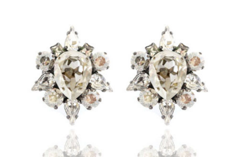 House of Emmanuele Dynasty Silver Stud Earrings