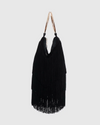 Silvi Black Velvet Tassel Bag