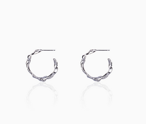 Rippling Swirl Hoops - Small