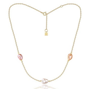 F&H Bianca Freshwater Pearl Choker Multicolour: Brass + 18k Gold Plating + Freshwater Pearl