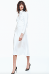 Porsche Tie-Neck Midi Dress - White