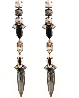 Emmanuele Savage Spear Drop Earrings