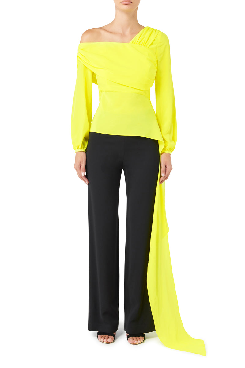Running Wild Wrap Top - Acid Yellow