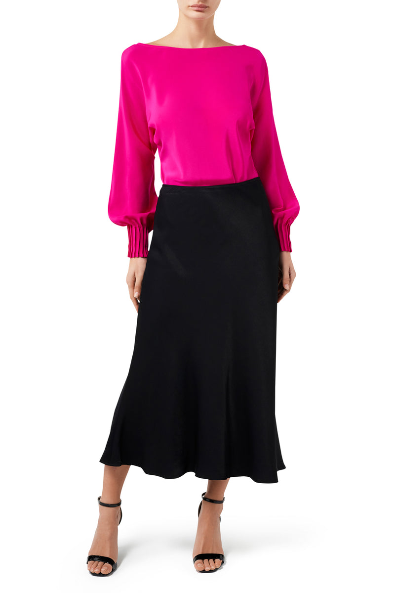 Mimi Slip Skirt - Black