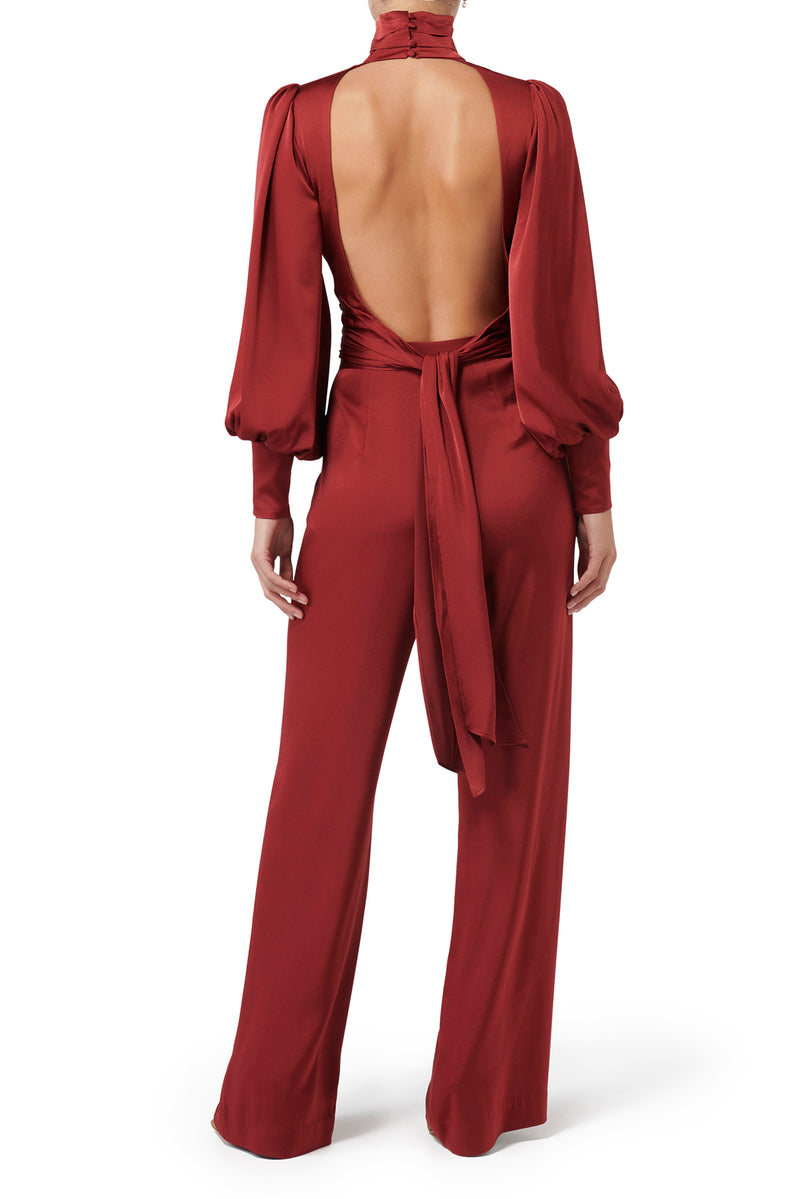 Dynasty Wide Leg Pant - Wine