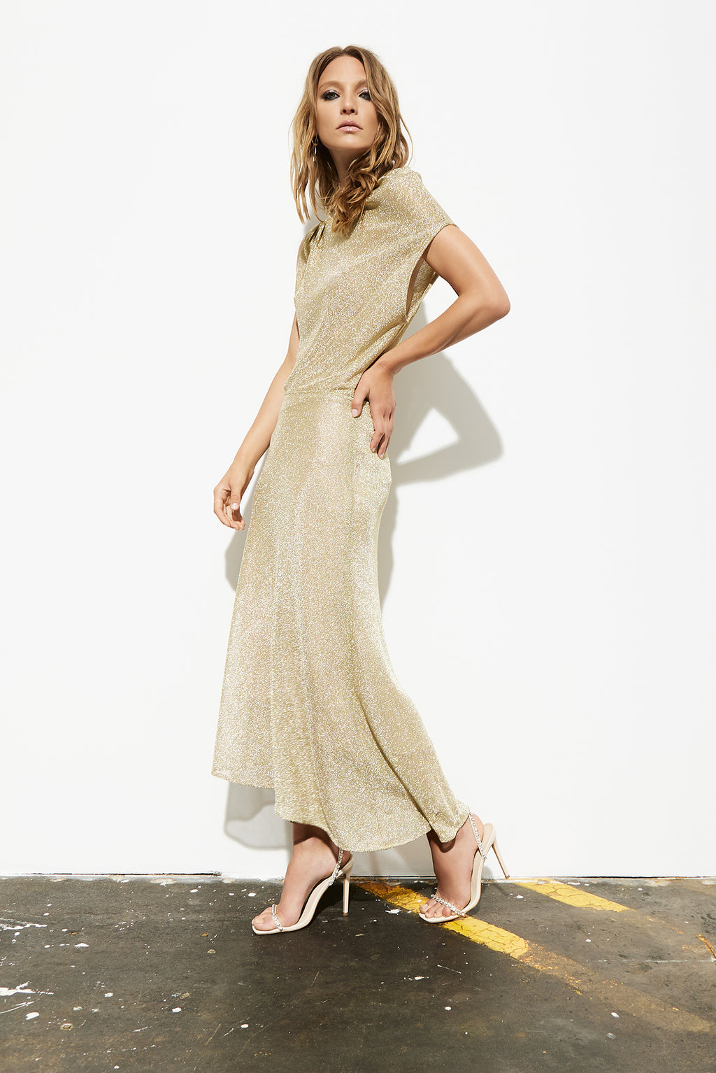 Astra Slip Skirt - Gold Chain