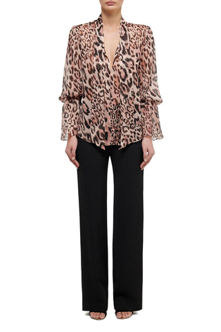 Liliana Brocade One Sleeve Top