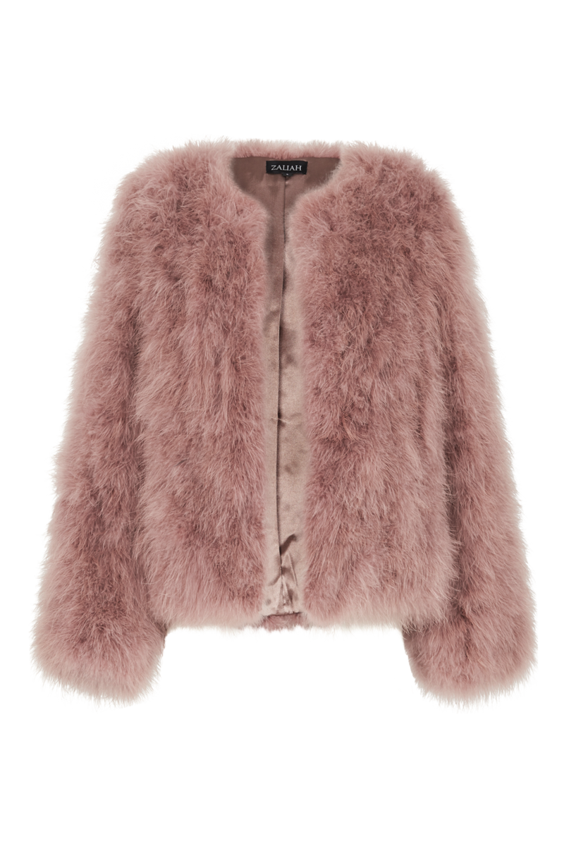 Blush Pink Feather Jacket