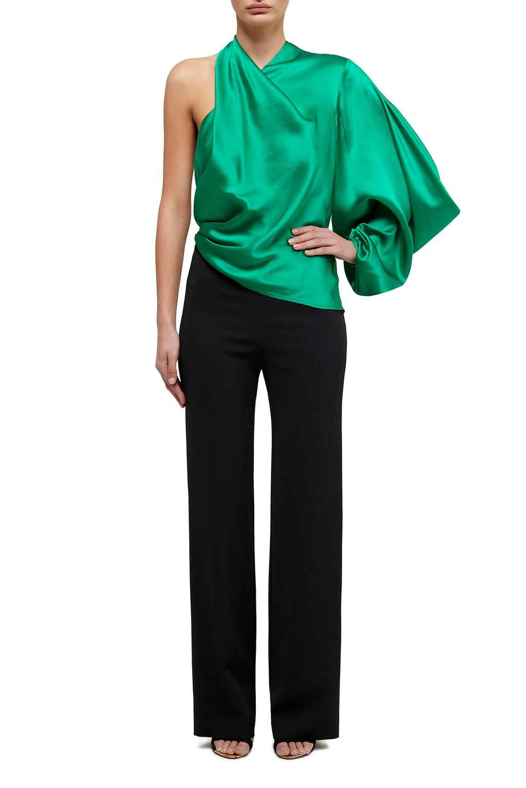 Attitude One Sleeve Top - Emerald Green