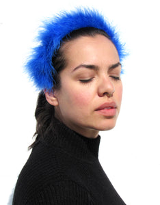 """Fuzzy Halo"" Headband, Blue"