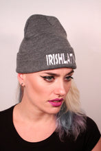"""IRISHLATINA"" Embroidered Beanie, Dark Grey"
