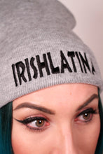 """IRISHLATINA"" Embroidered Beanie, Heather Grey"