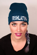 """IRISHLATINA"" Embroidered Beanie, Green"