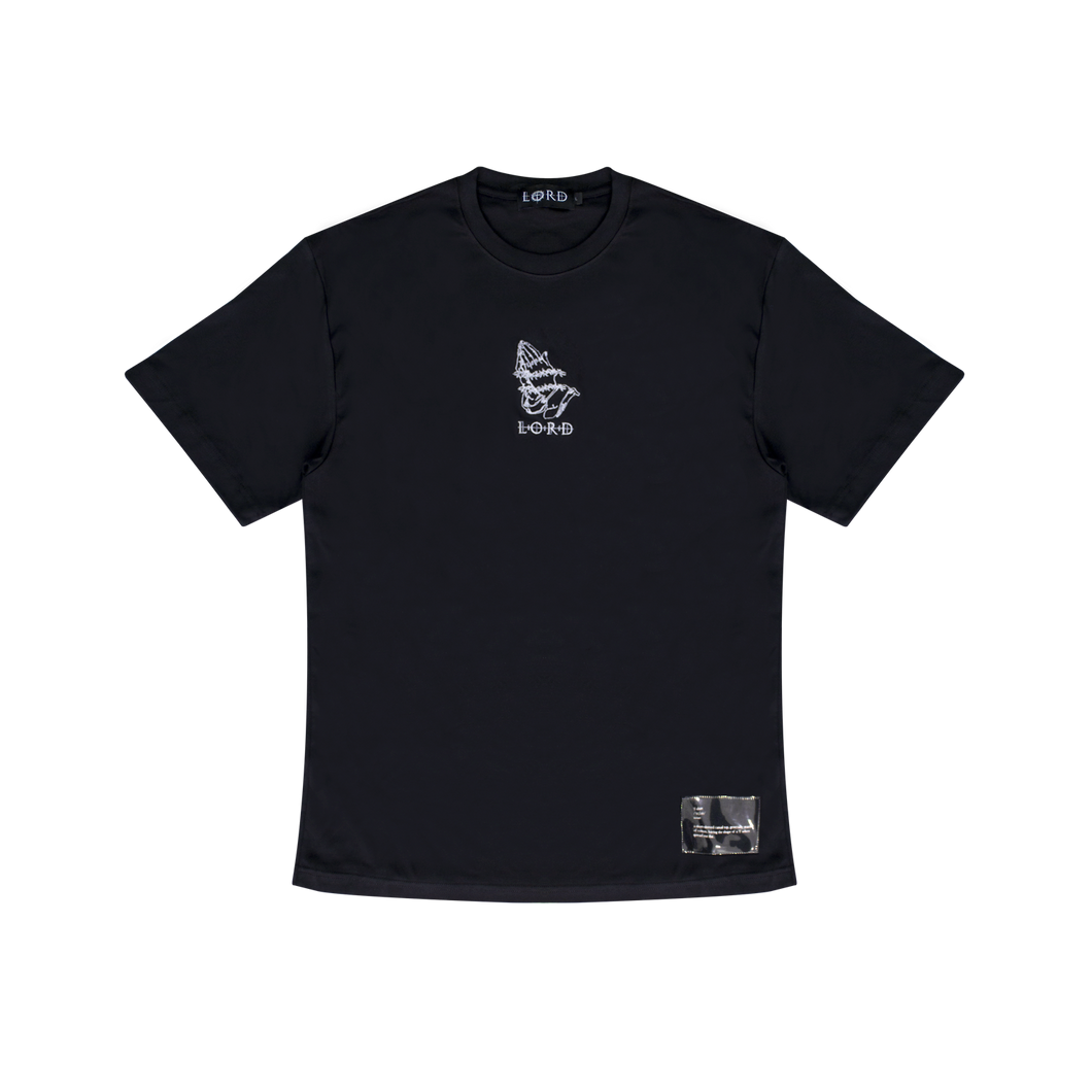 LORD EMBROIDERED PRAYING HANDS TEE