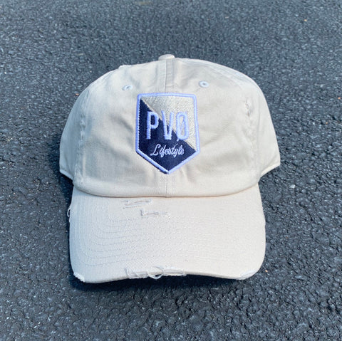 """Sliced"" PVØ Lifestyle distressed hat"