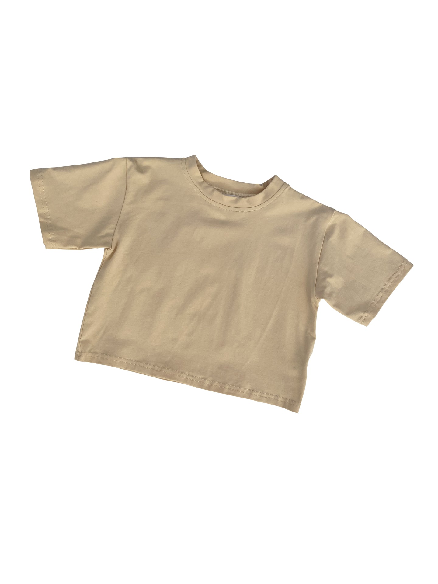 Roo Oversized Tee Biscuit - Little Indahs