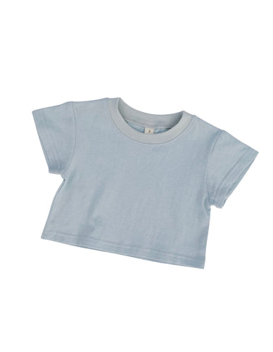 George Crop Tee Sky - Indah Designs